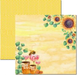 SC-519-Honey Bee 1 - Papel para Scrapbook Dupla Face