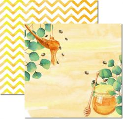 SC-522-Honey Bee 4 - Papel para Scrapbook Dupla Face