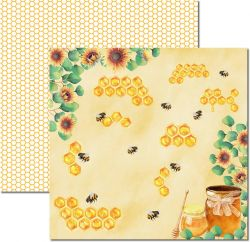 SC-523-Honey Bee 5 - Papel para Scrapbook Dupla Face