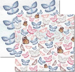 SC529-Butterfly 1 - Papel para Scrapbook Dupla Face
