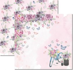 SC-530-Butterfly 2 - Papel para Scrapbook Dupla Face