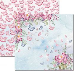 SC-532-Butterfly 4 - Papel para Scrapbook Dupla Face