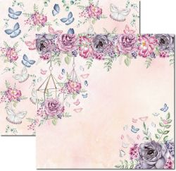 SC533-Butterfly 5 - Papel para Scrapbook Dupla Face