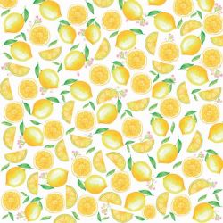 SC-535-Lemon 1 - Papel para Scrapbook Dupla Face