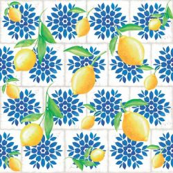 SC-536-Lemon 2 - Papel para Scrapbook Dupla Face