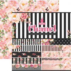 CL-005- Coleção Chanel - Kit Papel Scrap