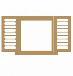 LR-856-1un. - Aplique Decorativo MDF