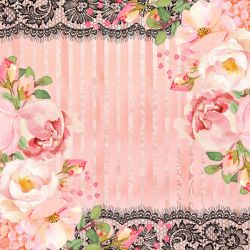 SC-552-Chanel 9 - Papel para Scrapbook Dupla Face