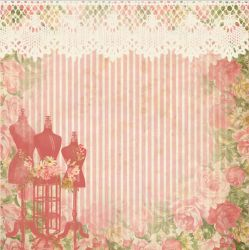 SC-555-Costura 6 - Papel para Scrapbook Dupla Face