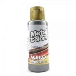 TC485- Metal Colors Preto 60ml - Acrilex  **