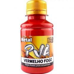 Tinta PVA Metal Vermelho Fogo - True Colors **