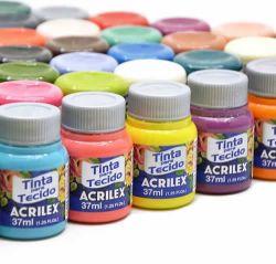 Tinta para Tecido Papaya - Acrilex **