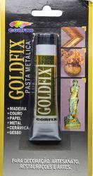 LCO009- Goldfix Pasta metálica Ouro Rico - Conteudo Tubo de pasta com 20ml