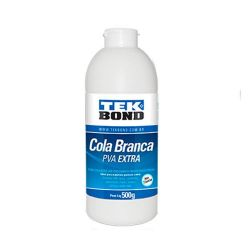 LAB769- Cola Branca PVA 500gr.- Tek Bond - Cola para Artesanato **