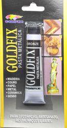 LCO0002- Goldfix Pasta metálica Bronze - Conteudo Tubo de pasta com 20ml