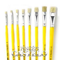 Pincel Chato Nº 520-4- Castelo - LPL009