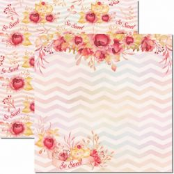 SC-596-Sweet 3 - Papel para Scrapbook Dupla Face