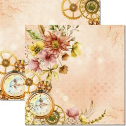 SC-612-Time Woman 1 - Papel para Scrapbook Dupla Face