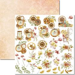 SC-617-Time Woman 6 - Papel para Scrapbook Dupla Face