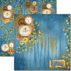 SC-619-Time Man 8 - Papel para Scrapbook Dupla Face