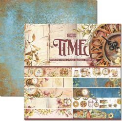 CL-006- Coleção Time - Kit Papel Scrap