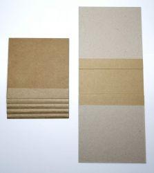 Mini Álbum com 5 Páginas - Papel Kraft