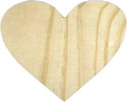 LMT-2296- Tábua de Frios Coração P 12,5x14,8cm  - Pinus