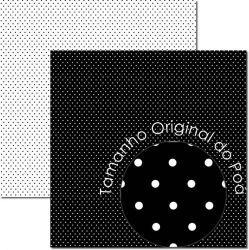 SC-674-Poá 8 - Papel para Scrapbook Dupla Face
